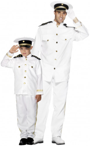 Kapitein koppelkostuum voor vader en zoon