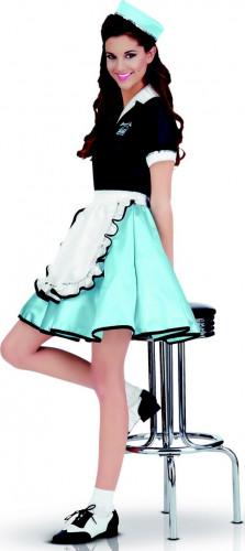 Retro serveerster kostuum voor dames jaren 50