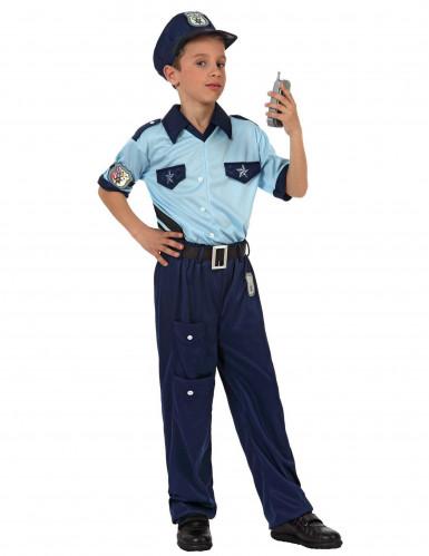 Blauw politie agent pak voor kinderen
