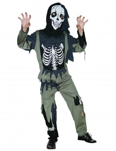Skeletten zombie kostuum voor kinderen