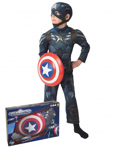 Gespierd Captain America The Winter Soldier™ kostuum voor jongens