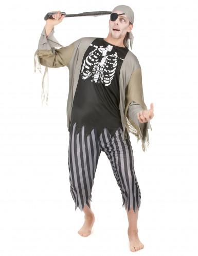 Piraten zombie kostuum voor mannen Halloween