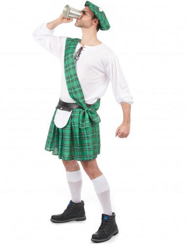 Groen Schotse outfit voor heren-1
