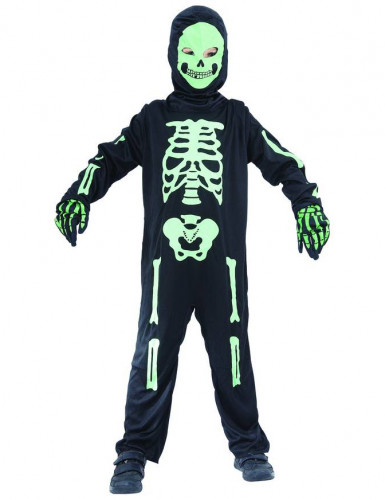 Groene skelet kostuum voor kinderen