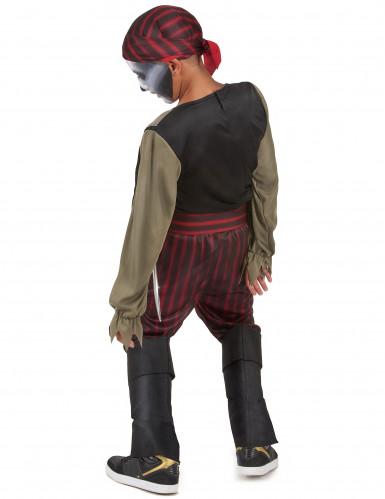 Zombie piraten skelet kostuum voor jongens-2