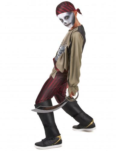 Zombie piraten skelet kostuum voor jongens-1