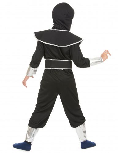Zilverkleurige draak ninja pak voor jongens-2