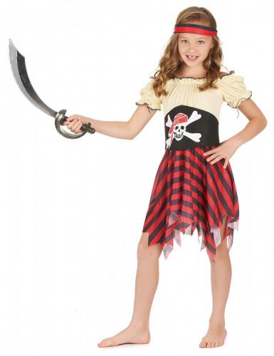 Zeeschuimer piratenpak voor meisjes-1