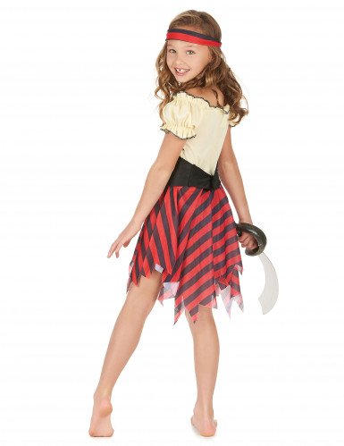 Zeeschuimer piratenpak voor meisjes-2