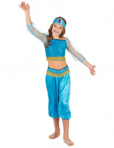 Blauw Arabische danseres outfit voor meisjes