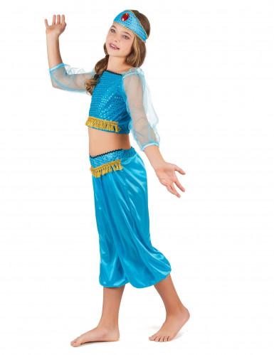 Blauw Arabische danseres outfit voor meisjes-1