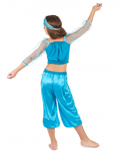 Blauw Arabische danseres outfit voor meisjes-2