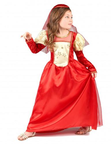 Rode middeleeuwse outfit voor meisjes-1