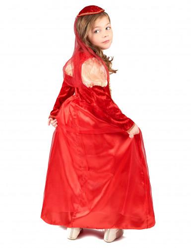 Rode middeleeuwse outfit voor meisjes-2