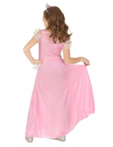 Roze en goudkleurige sterren prinses outfit voor meisjes-2