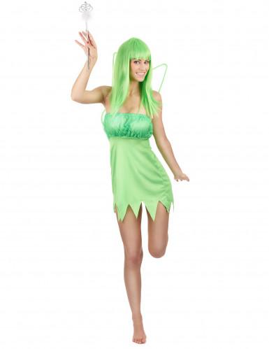 Groene feeën outfit voor vrouwen
