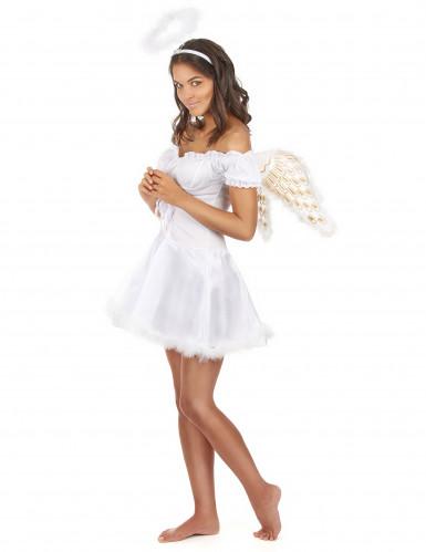 Sexy witte engel kostuum voor vrouwen-1