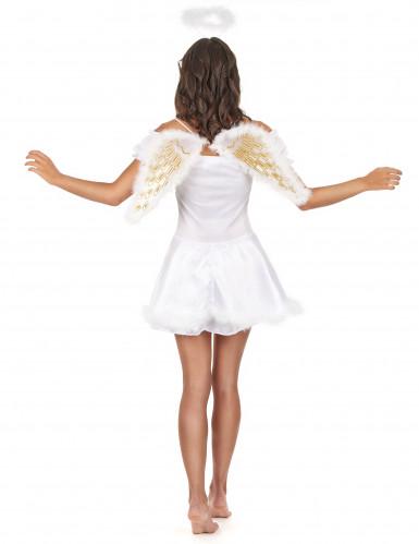 Sexy witte engel kostuum voor vrouwen-2