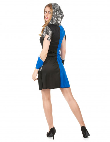 Blauwe ridder outfit voor dames-2
