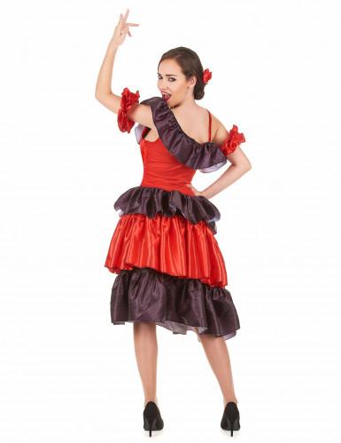 Rode flamenco danseres kostuum voor vrouwen-2