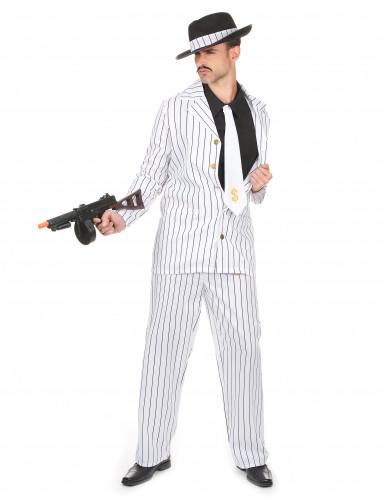 Witte gangster outfit voor heren