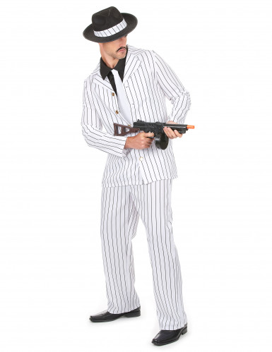 Witte gangster outfit voor heren-1