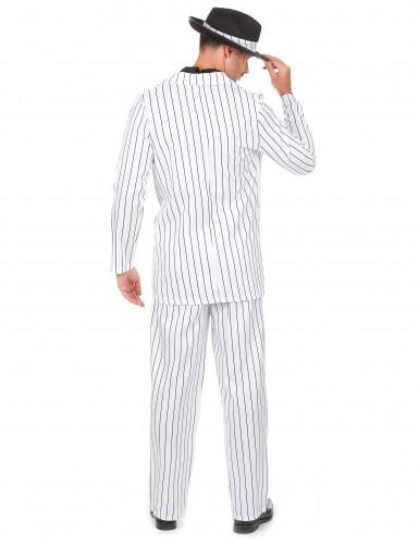 Witte gangster outfit voor heren-2