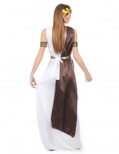Wit en bruin Romeins kostuum voor dames-2