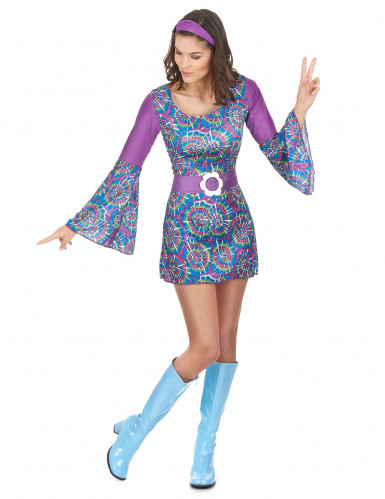Hippie Flower Power outfit voor dames