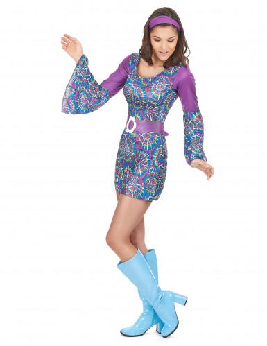 Hippie Flower Power outfit voor dames-1