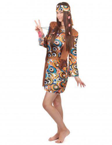 Flower power psychedelisch kostuum voor vrouwen-1