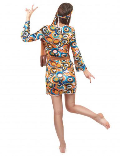 Flower power psychedelisch kostuum voor vrouwen-2