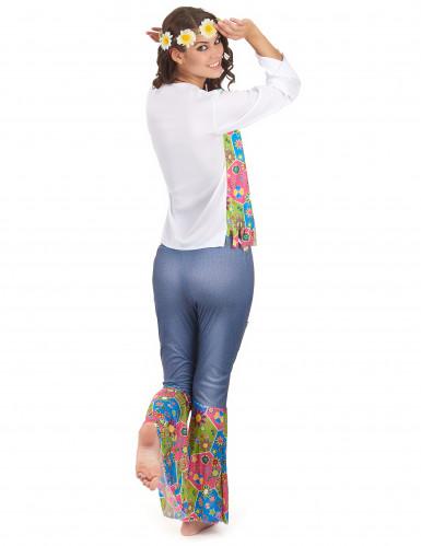 Driekleurig Flower Power hippie pak voor vrouwen-2