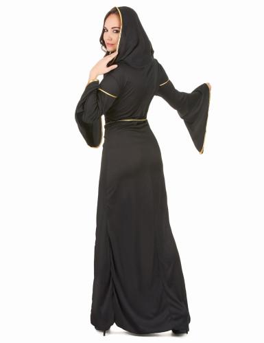 Zwart sexy nonnen kostuum voor vrouwen-2