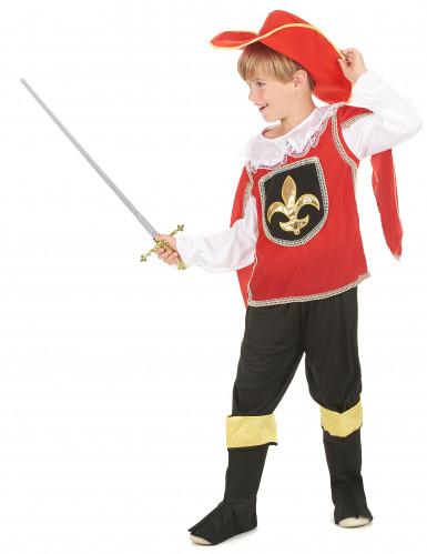 Rode musketier kostuum voor jongens-1