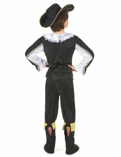 Zwart en goudkleurig musketier kostuum voor jongens-2