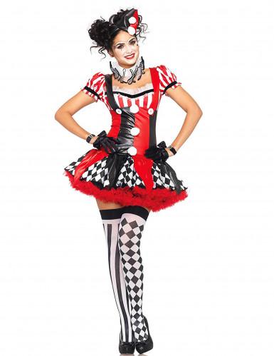 Sexy harlequin kostuum voor dames