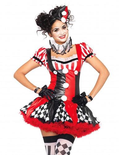 Sexy harlequin kostuum voor dames-2