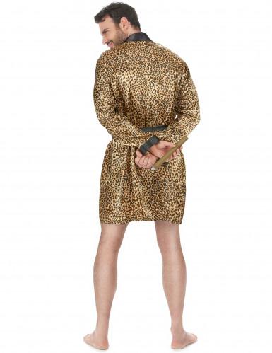 Pimp badjas in luipaard print voor mannen-2