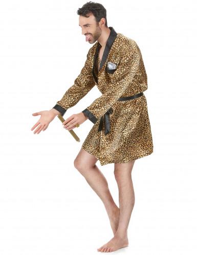 Pimp badjas in luipaard print voor mannen-1
