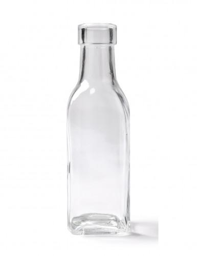 Rechthoekige glazen fles