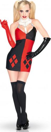 Kostuum van Harley Quinn™ Super Villain voor dames