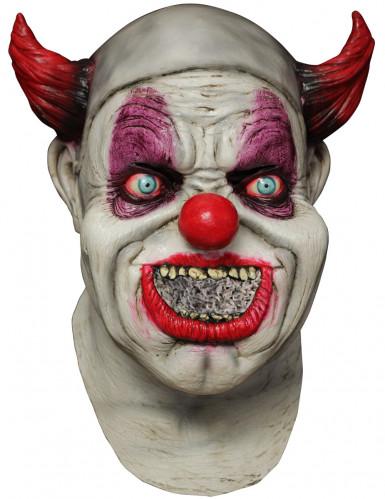 Volledig Halloween masker van horror clown volwassenen