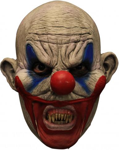 3/4 clown masker met gebit Halloween