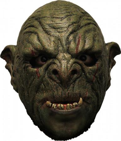 Groen monster masker met gebit voor volwassenen