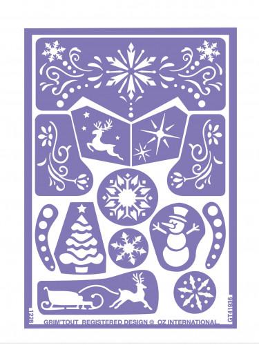 Set van schminksjablonen Sneeuw Prinses Grim'tout