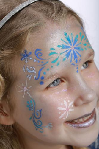 Set van schminksjablonen Sneeuw Prinses Grim'tout-3