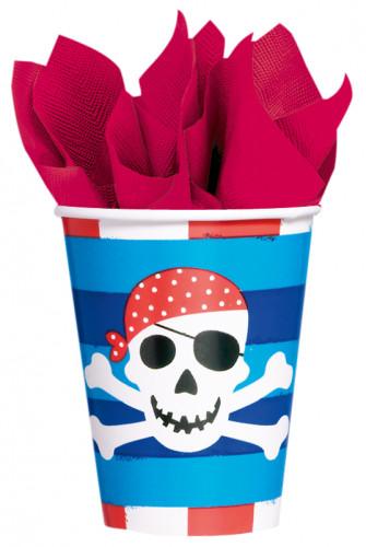 8 piraten doodskop bekers