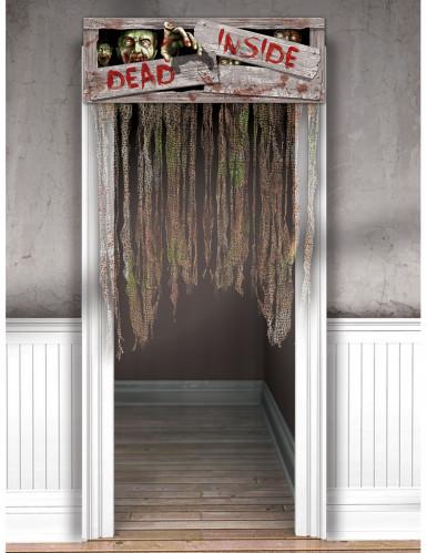 Zombie deurdecoratie