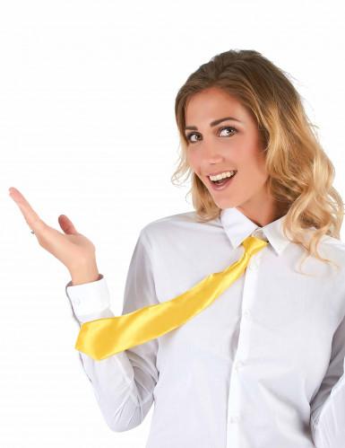 Gele stropdas voor volwassenen-1
